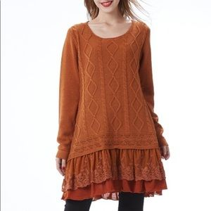 Simply Couture cable knit sweater | S